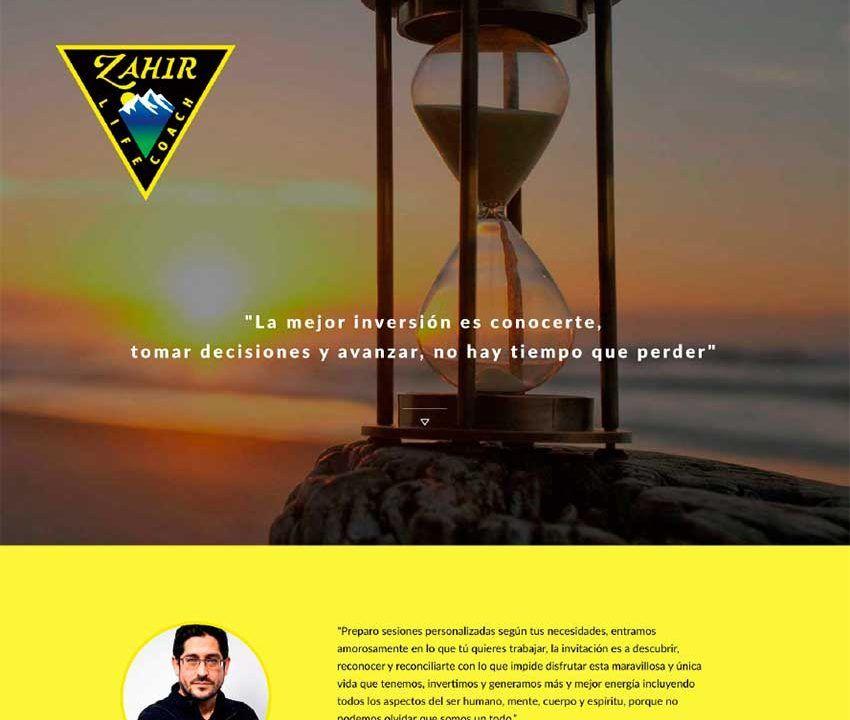 zahir presentacion, proclama diseño web